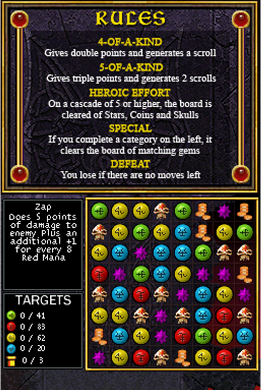 puzzle quest spell